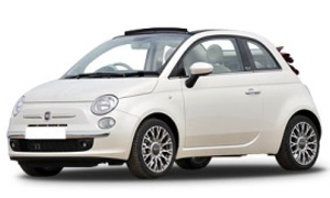 Car Hire Rhodes Fiat 500 Cabrio